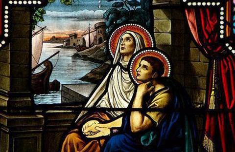 Thánh nữ Monica (331-387) và thánh Augustinô (354-430).