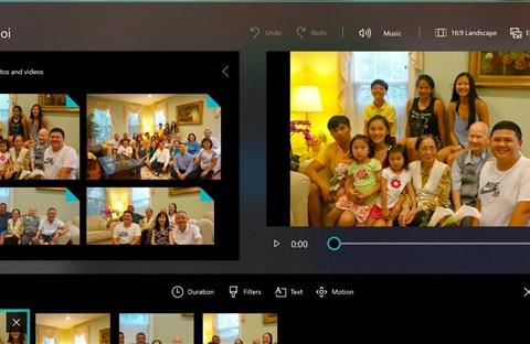 Cách sử dụng chức năng Story Remix trong Windows 10 Fall Creators để tạo video nhanh, đẹp, vui