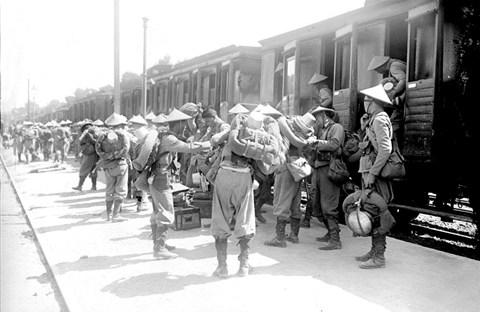 Soldats vietnamiens. Lính viễn chinh VN
