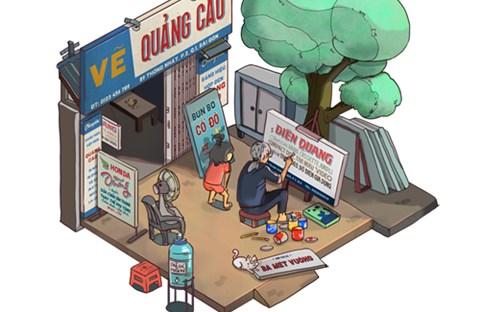 Sài Gòn bình dị qua loạt tranh 3D sống động
