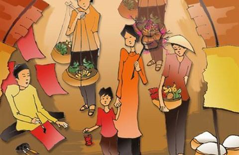 Ký ức chợ Tết xưa ở quê