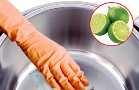 Làm sạch vật dụng hiệu quả với trái chanh