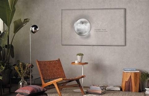 """TV QLED của Samsung """"ngụy trang"""" lẫn vào tường khi ở chế độ chờ"""