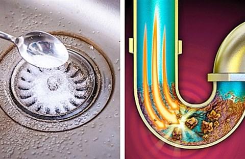 Thông tắc bồn rửa bát nhanh và hiệu  quả