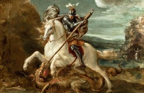Truyền thuyết Thánh kỵ sĩ giết rồng qua hội họa phương Tây