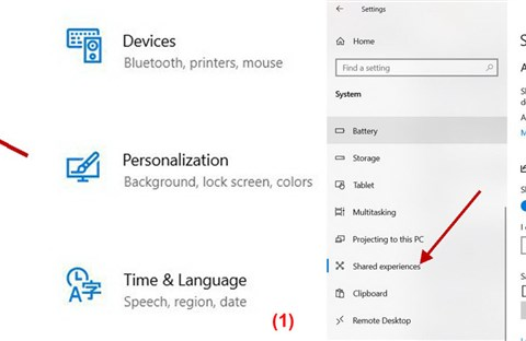 Sử dụng Nearby Sharing trong Windows 10