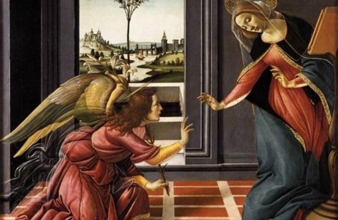 Đức mẹ Mary tiếp nhận thiên ý qua hội họa phương Tây