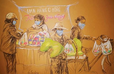 Tình người Sài Gòn thời dịch qua tranh