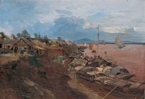 gaston-roullet-1847-1925-cnh-h-ni-landscape-of-hanoi-1885-oil-on-canvas-27-x-38-cm_15402356474_o