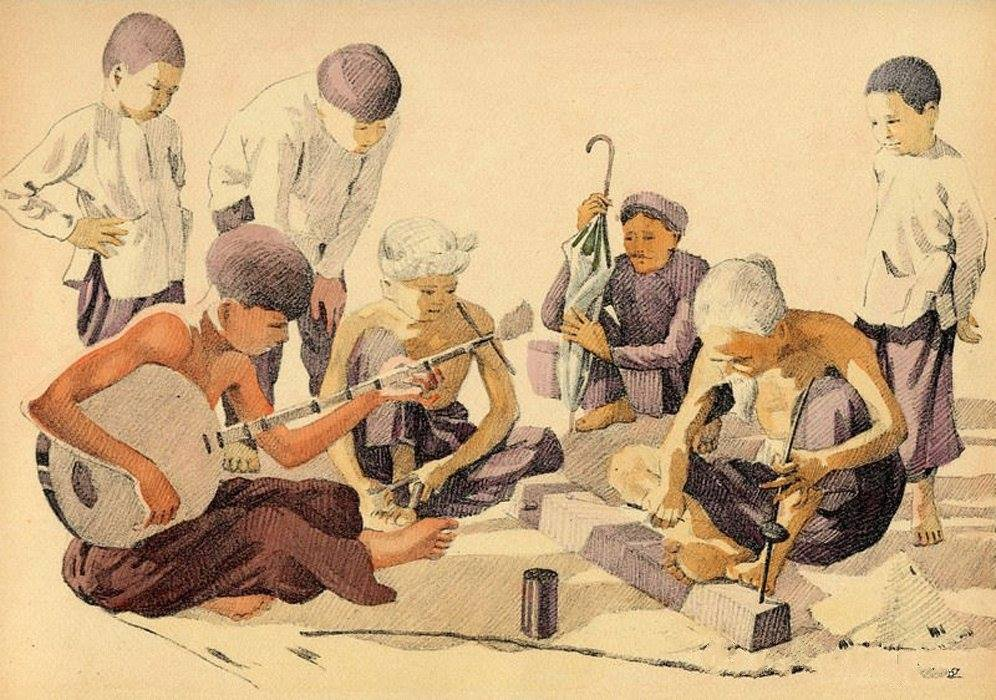 Chiêm ngưỡng bộ tranh vẽ cuộc sống người Việt vào thập niên 1930 - 43