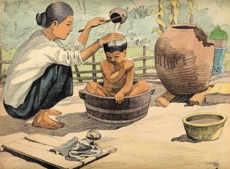 Chiêm ngưỡng bộ tranh vẽ cuộc sống người Việt vào thập niên 1930 - 29