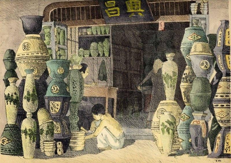 Chiêm ngưỡng bộ tranh vẽ cuộc sống người Việt vào thập niên 1930 - 40