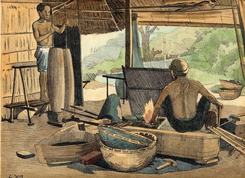 Chiêm ngưỡng bộ tranh vẽ cuộc sống người Việt vào thập niên 1930 - 35