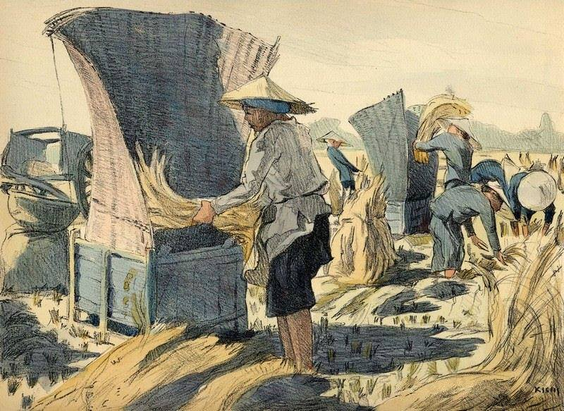 Chiêm ngưỡng bộ tranh vẽ cuộc sống người Việt vào thập niên 1930 - 30