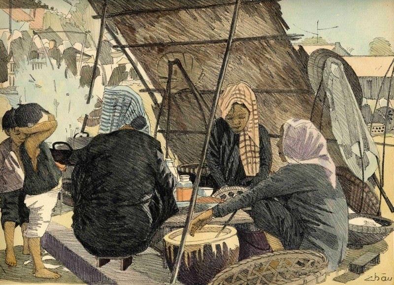 Chiêm ngưỡng bộ tranh vẽ cuộc sống người Việt vào thập niên 1930 - 46