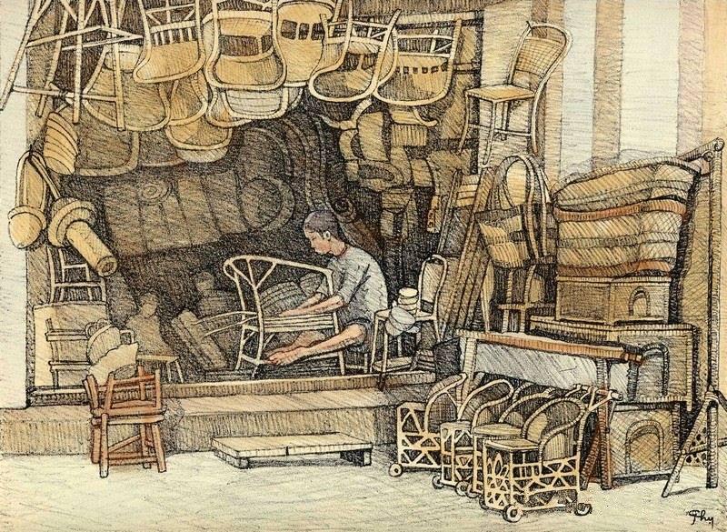 Chiêm ngưỡng bộ tranh vẽ cuộc sống người Việt vào thập niên 1930 - 39