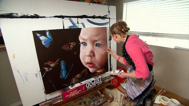Cô bé kiếm hàng triệu đô nhờ vào tài năng vẽ tranh siêu thường - 12