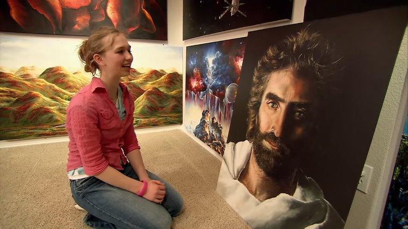 Cô bé kiếm hàng triệu đô nhờ vào tài năng vẽ tranh siêu thường - 2