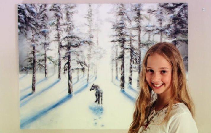 Cô bé kiếm hàng triệu đô nhờ vào tài năng vẽ tranh siêu thường - 21