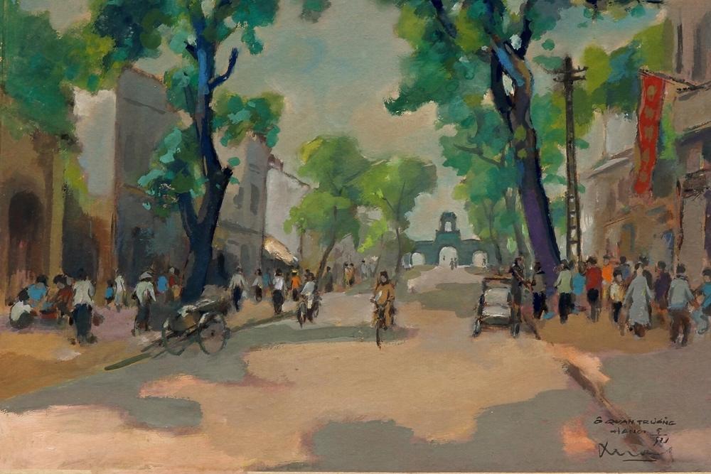 Hà Nội thập niên 1950 qua tranh bột màu - 5