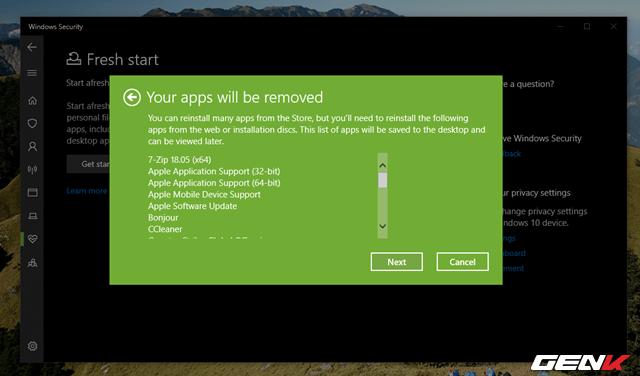 """Windows 10 cung cấp sẳn 04 lựa chọn """"làm tươi"""" lại hệ điềuhành - 10"""