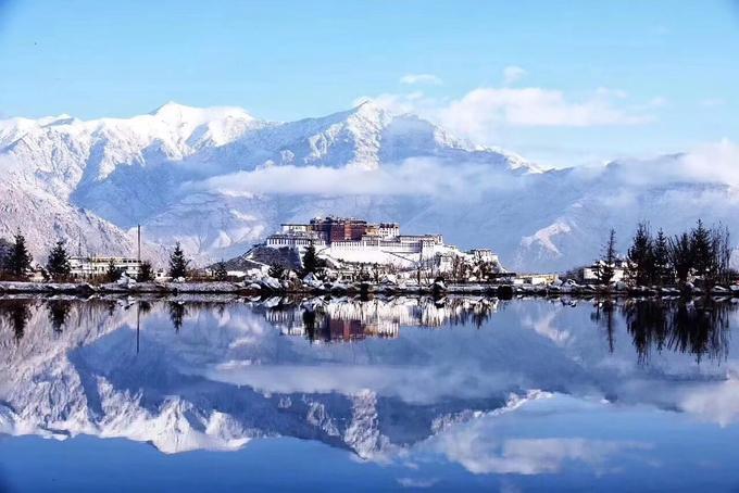 Tây Tạng phủ tuyết trắng trong mùa đông - 3