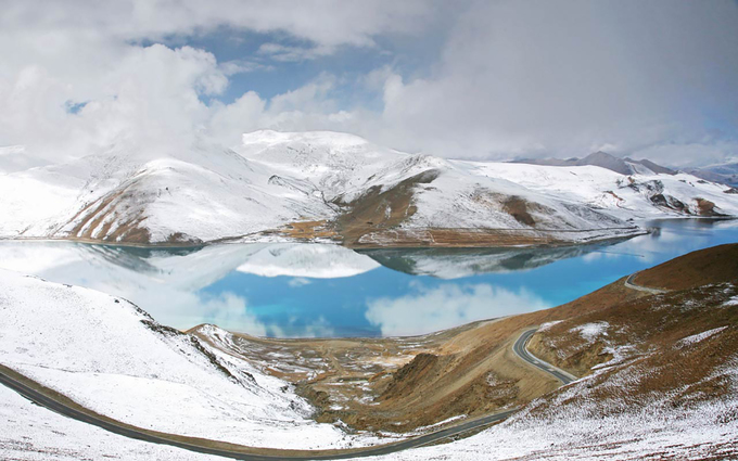 Tây Tạng phủ tuyết trắng trong mùa đông - 5