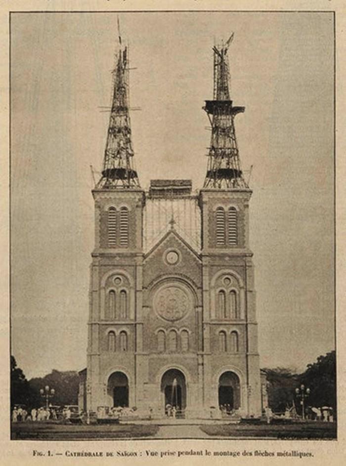 Hình ảnh nhà thờ Đức Bà Sài Gòn lúc  mới xây - 4