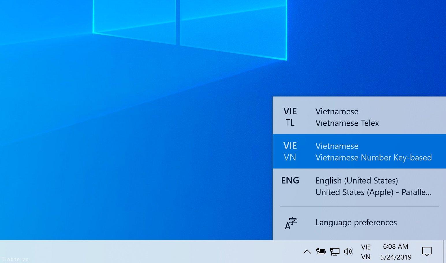 Cách bật bộ gõ tiếng Việt TELEX và VNI cho Windows 10 - 5