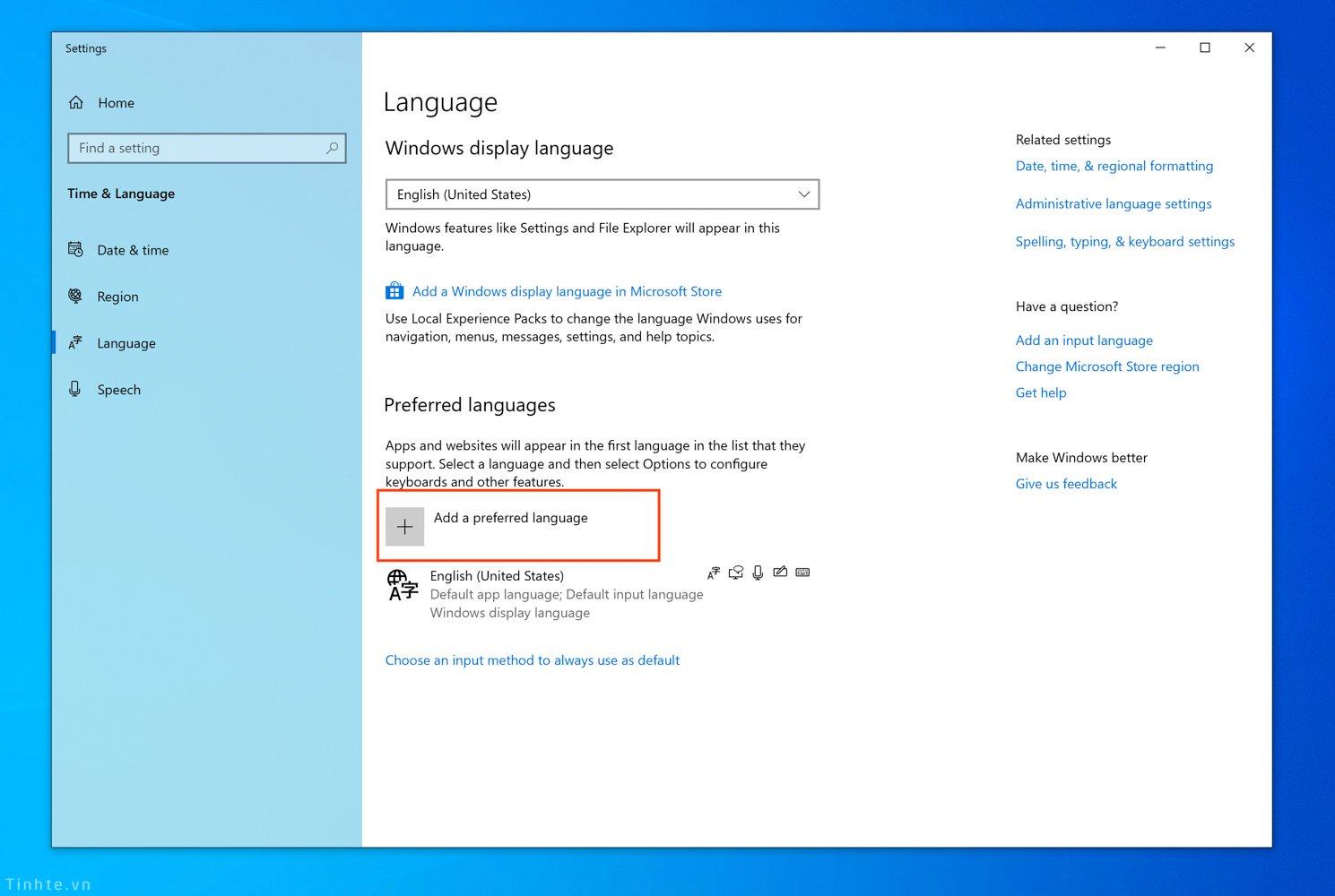 Cách bật bộ gõ tiếng Việt TELEX và VNI cho Windows 10 - 2