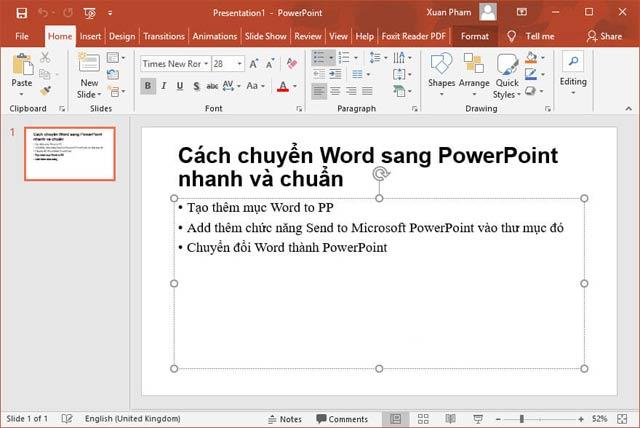 Hướng dẫn chuyển nội dung Word sang PowerPoint tự động - 8