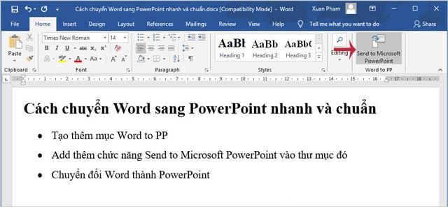 Hướng dẫn chuyển nội dung Word sang PowerPoint tự động - 7