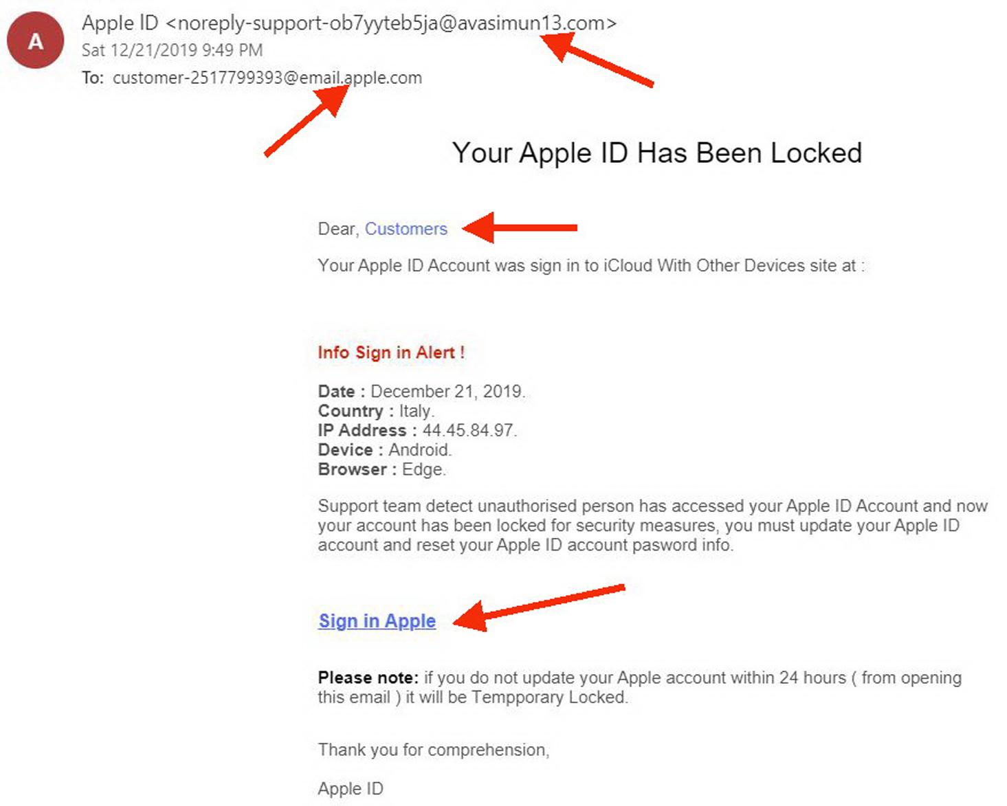 Cách nhận biết email lừa đảo - 3
