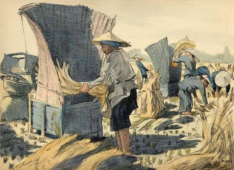 Bộ tranh vẽ cuộc sống người Việt vào thập niên 1930 - 30
