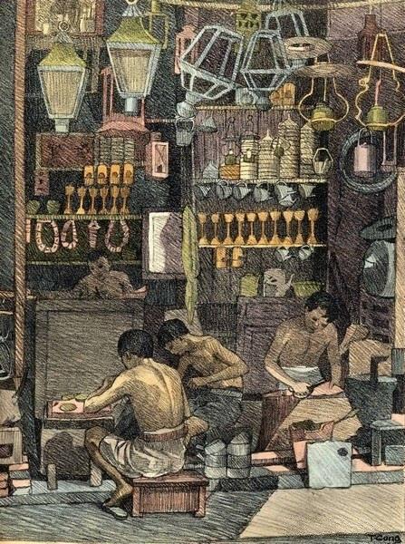 Bộ tranh vẽ cuộc sống người Việt vào thập niên 1930 - 36