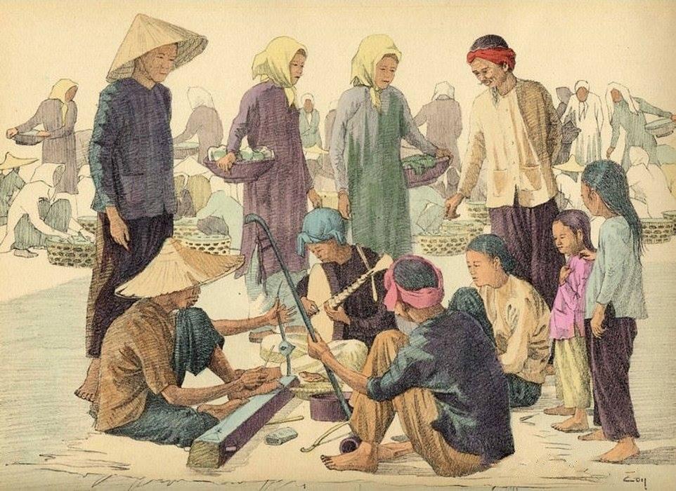 Bộ tranh vẽ cuộc sống người Việt vào thập niên 1930 - 44