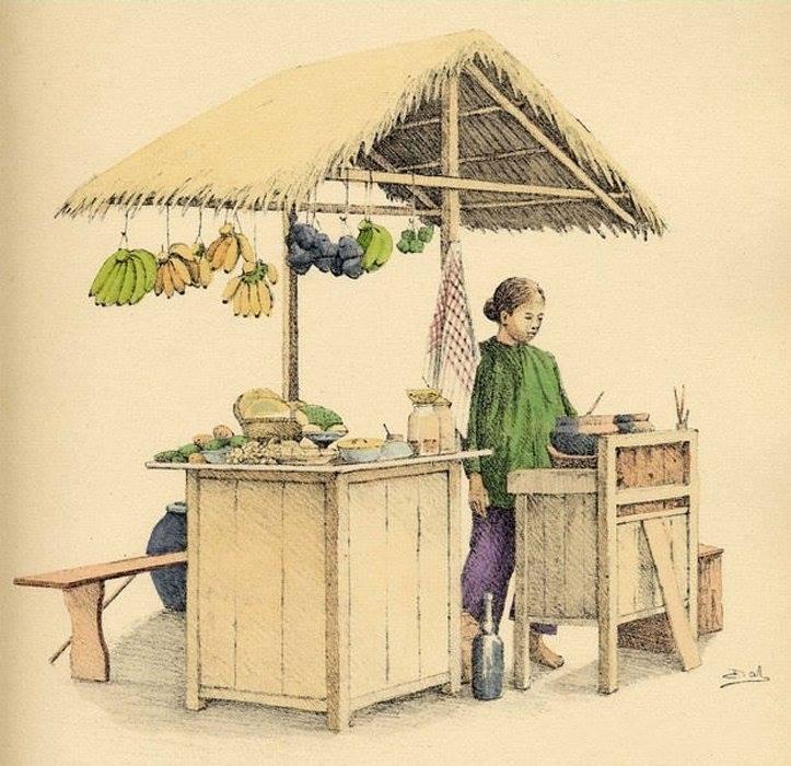 Bộ tranh vẽ cuộc sống người Việt vào thập niên 1930 - 49