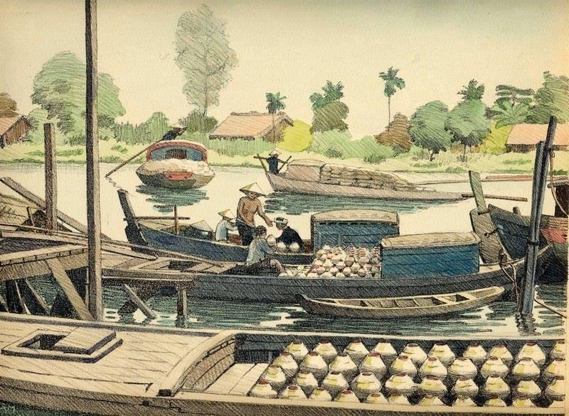 Bộ tranh vẽ cuộc sống người Việt vào thập niên 1930 - 17