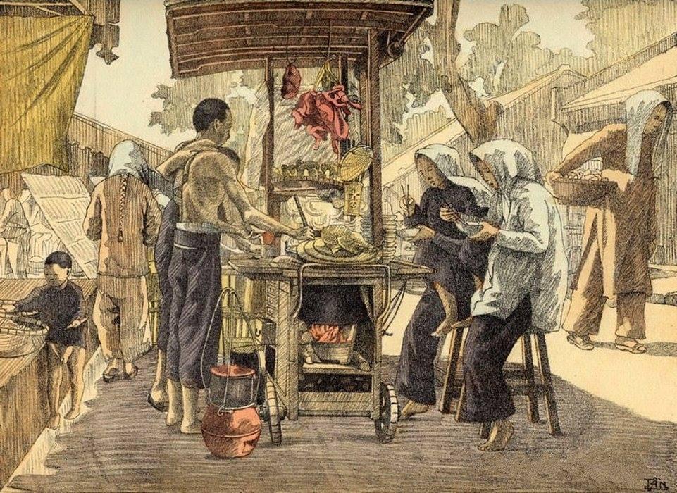 Bộ tranh vẽ cuộc sống người Việt vào thập niên 1930 - 45