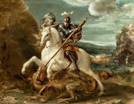 Truyền thuyết Thánh kỵ sĩ giết rồng qua hội họa phương Tây - 1