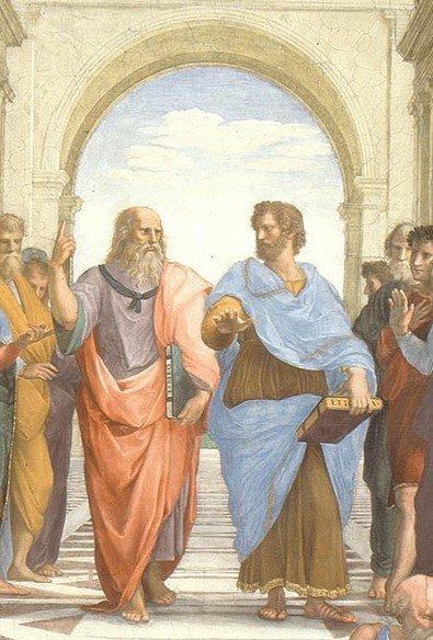 """Cuộc tranh luận giữa Plato và Aristotle trong kiệt tác """"Học viện Athens"""" - 2"""