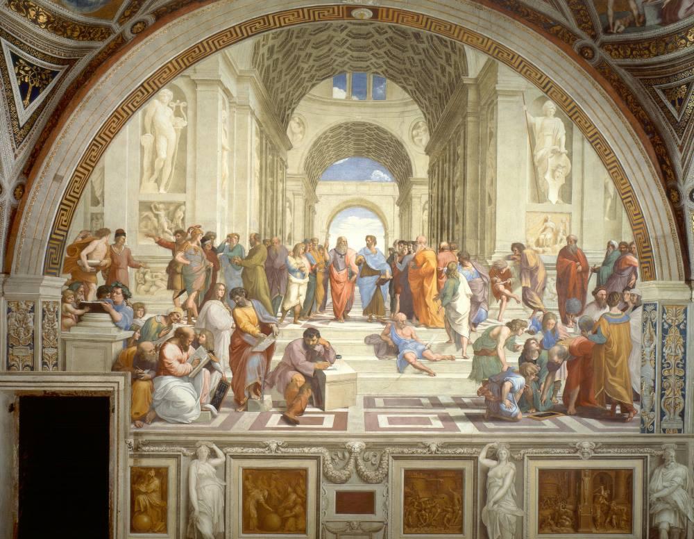 """Cuộc tranh luận giữa Plato và Aristotle trong kiệt tác """"Học viện Athens"""" - 1"""