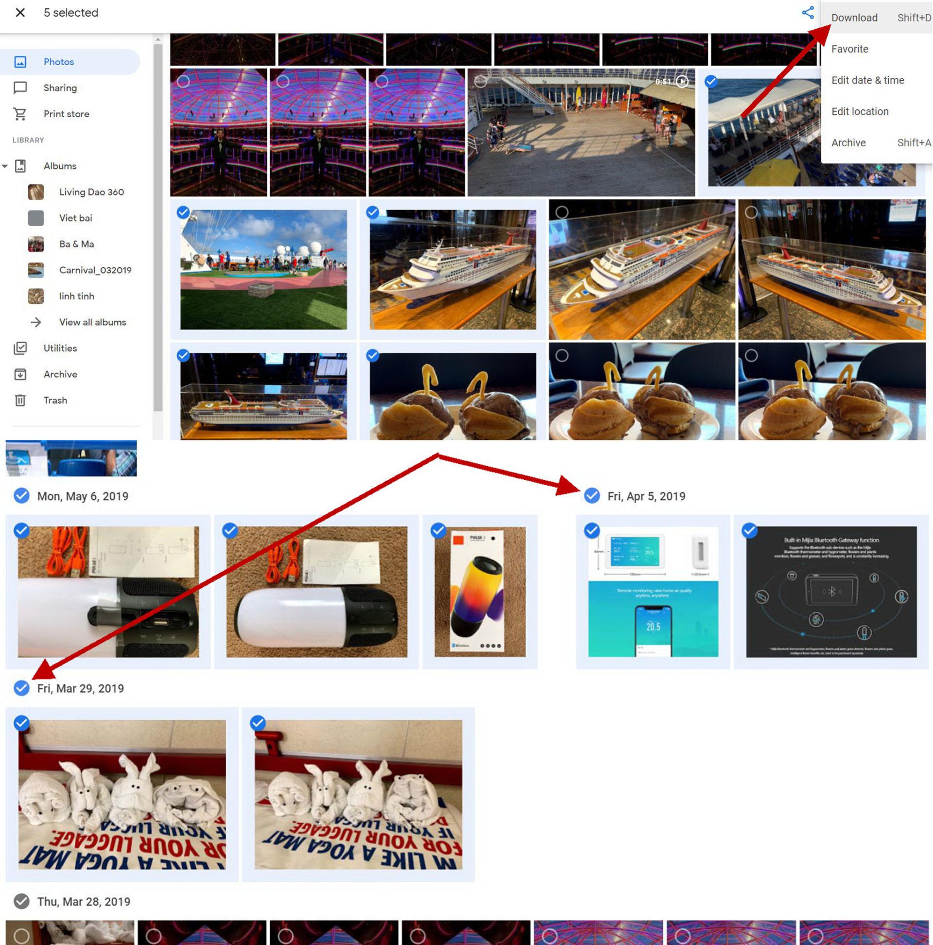 Download hình trên Google Photos về máy tính - 3
