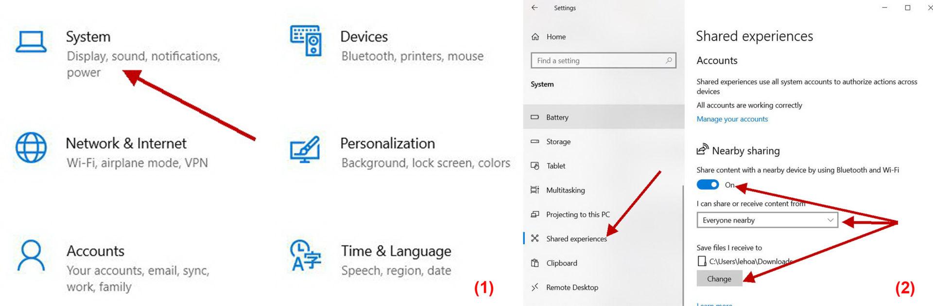 Sử dụng Nearby Sharing trong Windows 10 - 1