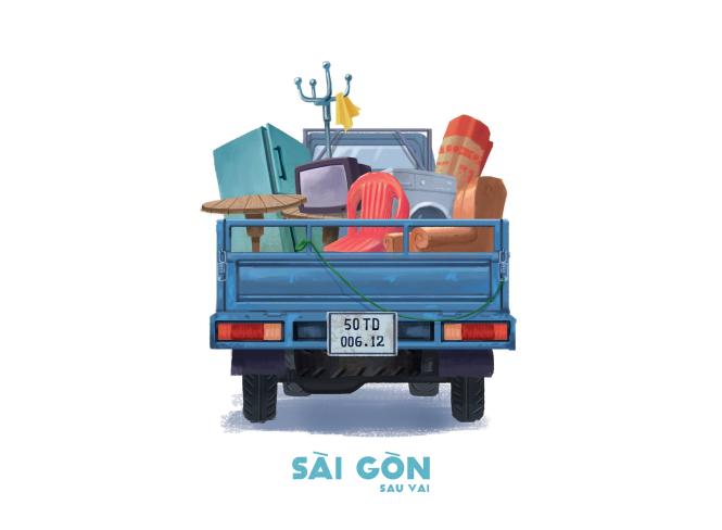 Sài Gòn sâu lắng sau bờ vai qua tranh vẽ các bạn trẻ - 10