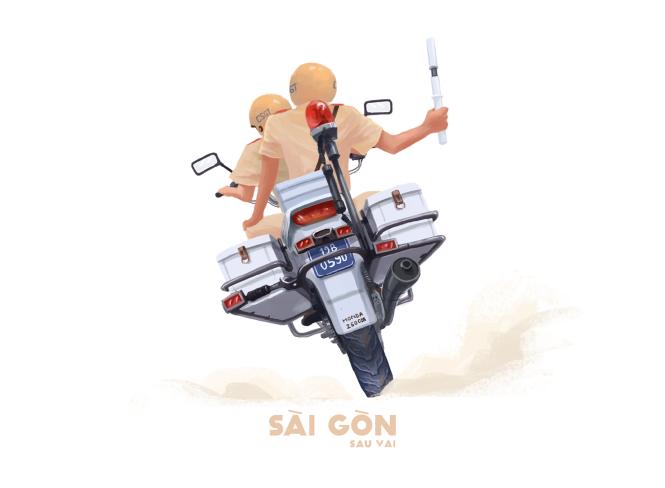 Sài Gòn sâu lắng sau bờ vai qua tranh vẽ các bạn trẻ - 3