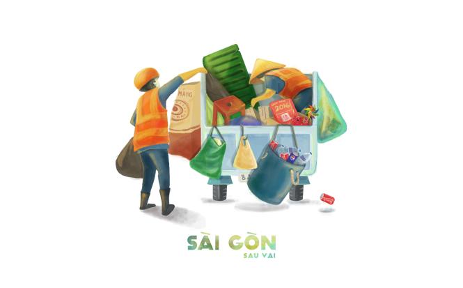 Sài Gòn sâu lắng sau bờ vai qua tranh vẽ các bạn trẻ - 5