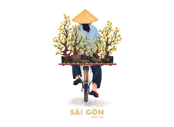 Sài Gòn sâu lắng sau bờ vai qua tranh vẽ các bạn trẻ - 8