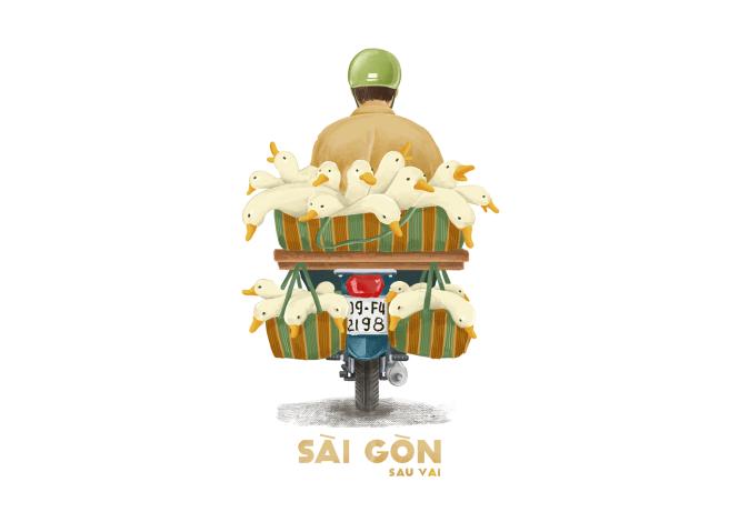 Sài Gòn sâu lắng sau bờ vai qua tranh vẽ các bạn trẻ - 4