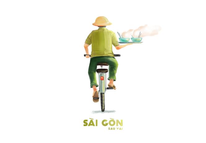 Sài Gòn sâu lắng sau bờ vai qua tranh vẽ các bạn trẻ - 1